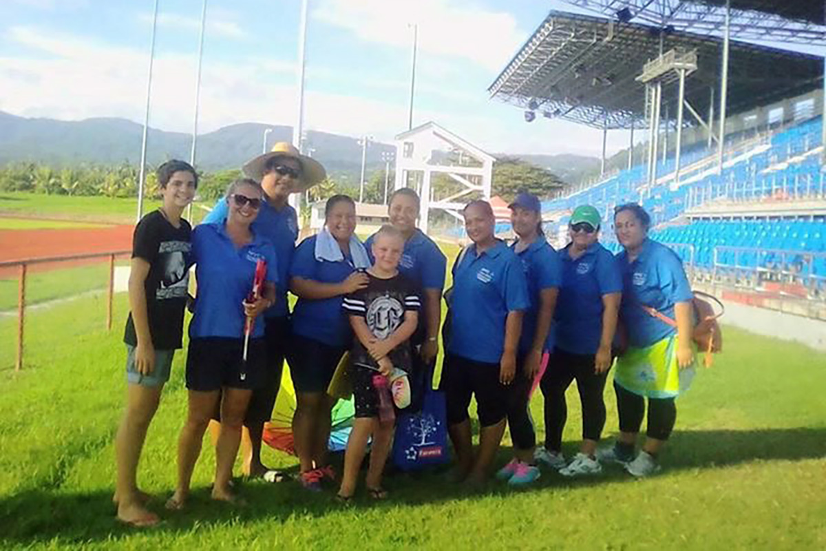 Education Support students in Samoa assist with Special Olympics Tournament.
