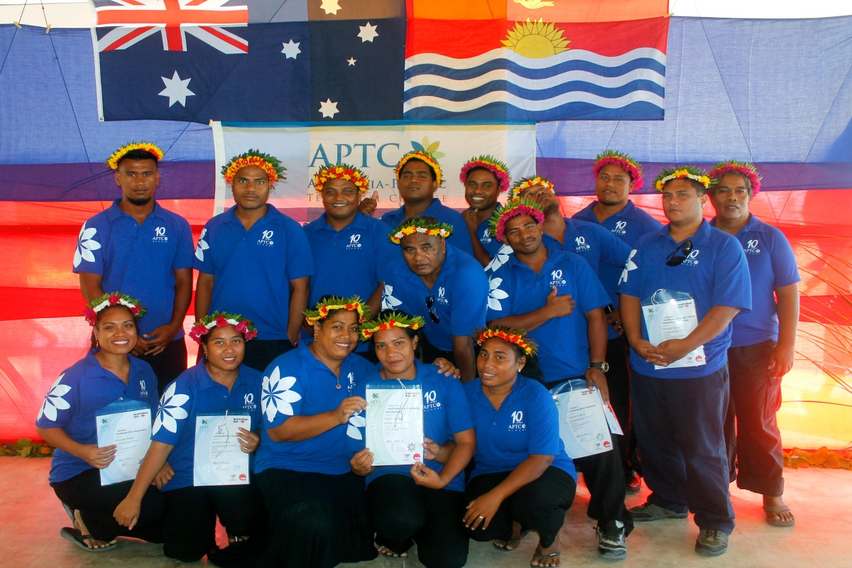 APTC students during the graduation ceremony in Kiribati