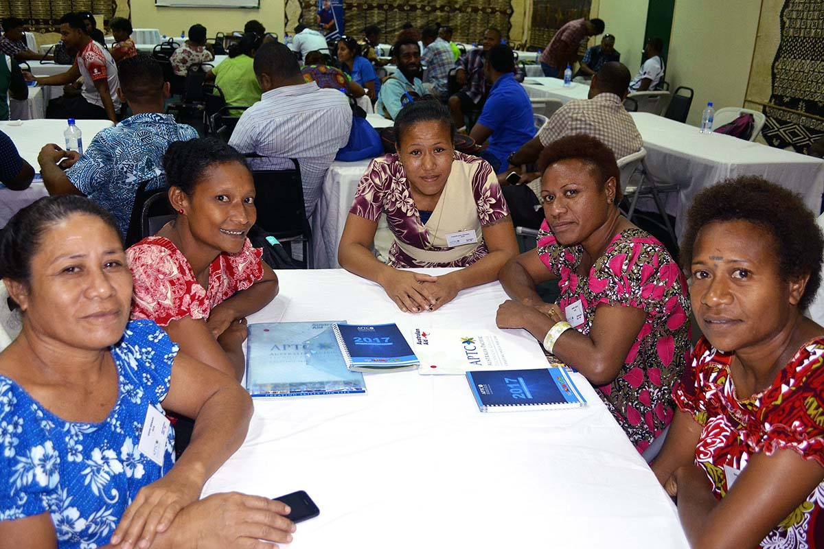 APTC students at the Semester 1 2017 Orientation in Suva, Fiji.