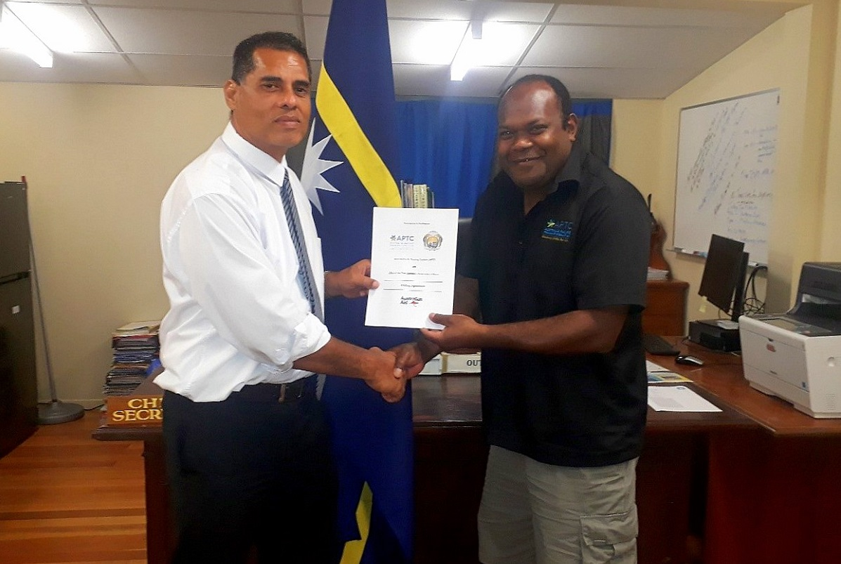 APTC and the Government of Nauru sign hosting agreement