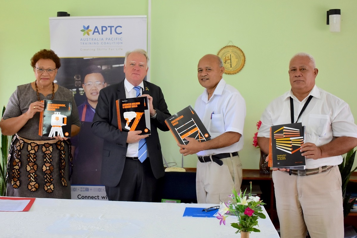 APTC provides training resources to support the Tonga Institute of Science and Technology