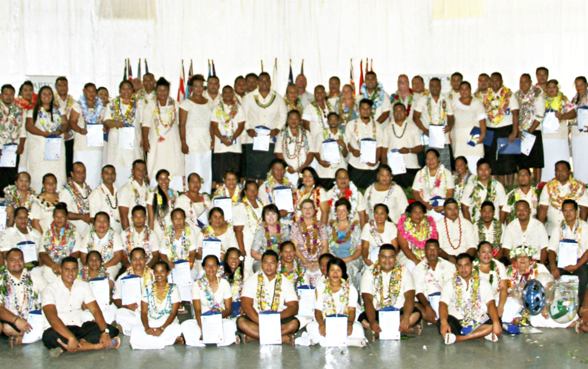 Official group photo of APTC Samoa graduation
