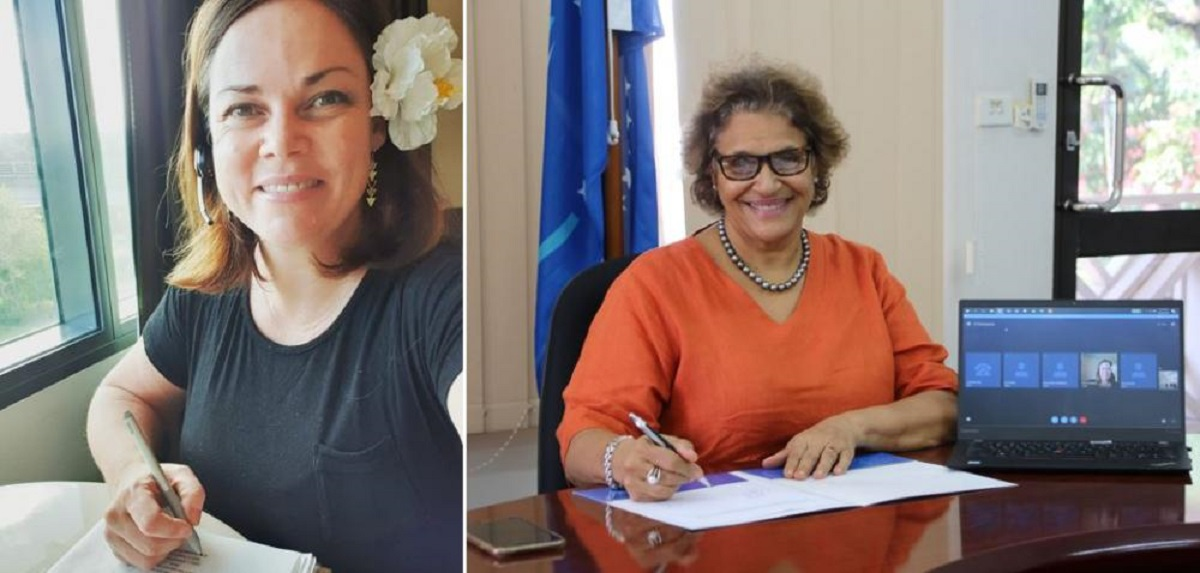 Signing- APTC CEO and SPC Deputy Director-General, Dr Audrey Aumua.
